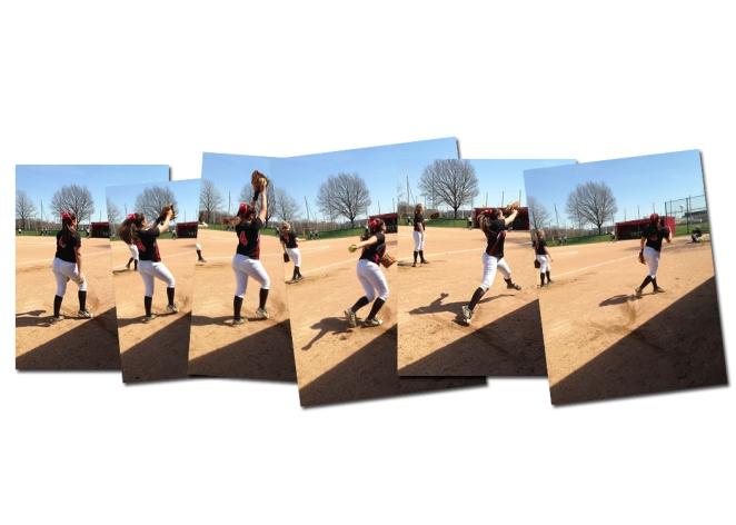 Softbal pitcher